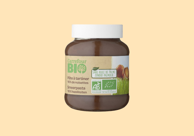 Pâte à tartiner noisettes — Carrefour Bio