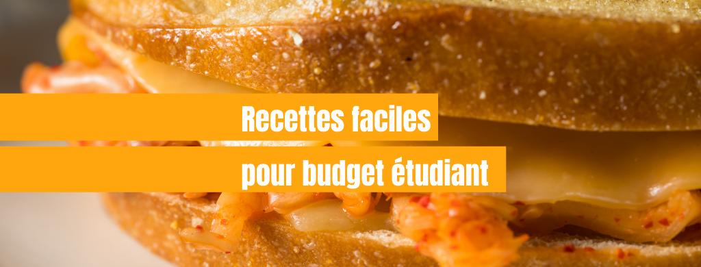 Recettes faciles et revisitées pour budget étudiant